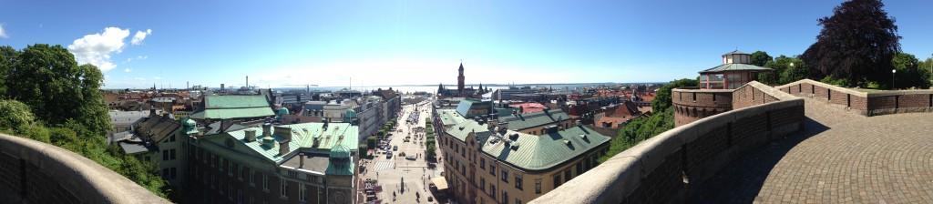 Fräsig vybild över Helsingborg
