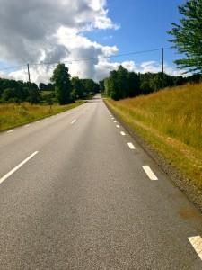 Vägen uppför Stenberget/Romeleåsen