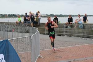 Påbörjar mitt andra varv på löpningen