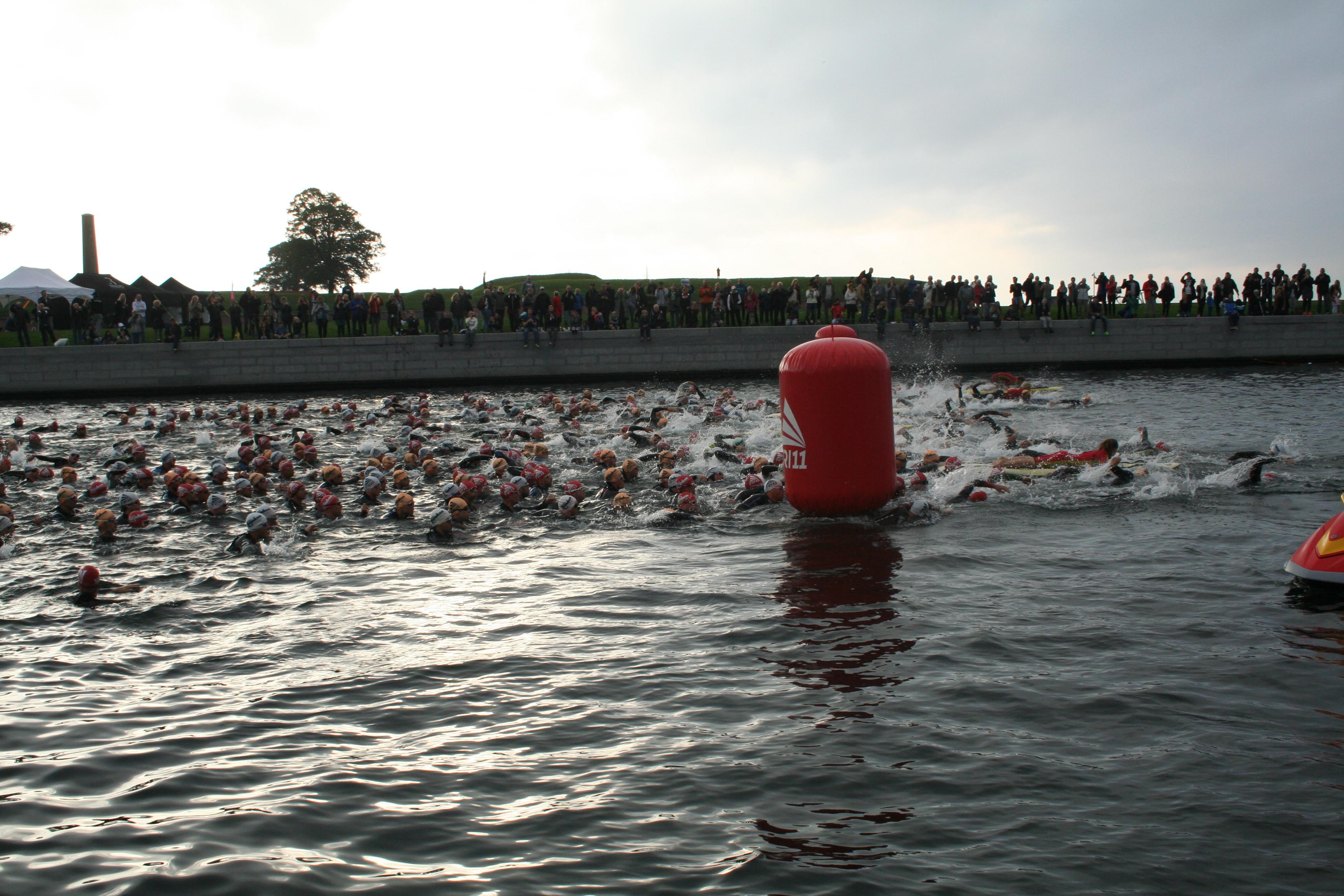 Starten för simningen